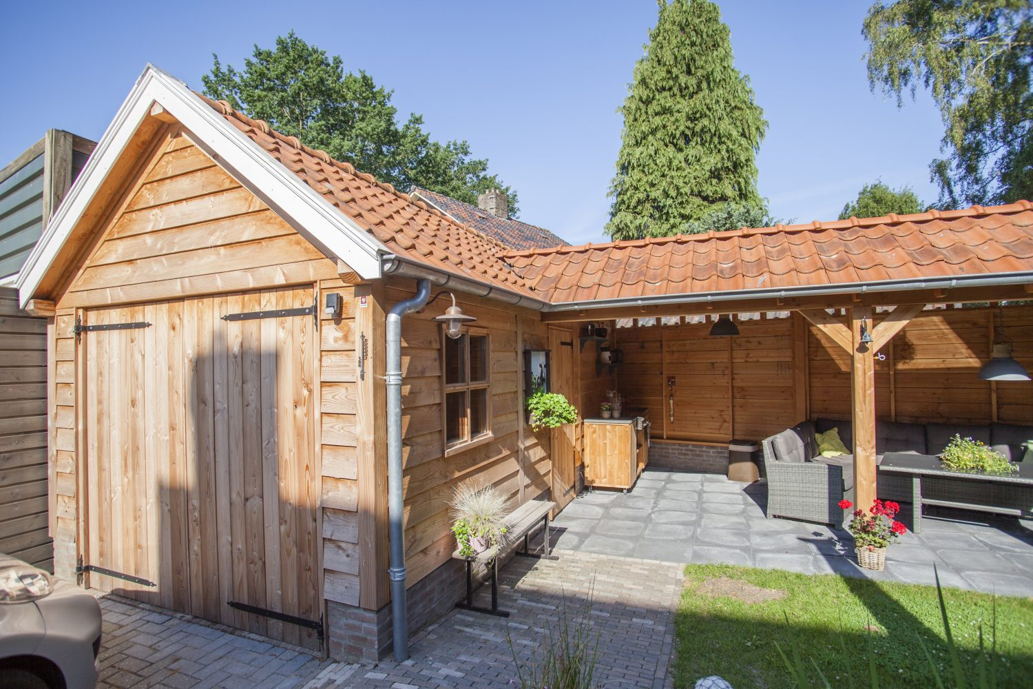 Garage Met Overkapping : Garages schuren vdbent wood creations