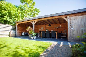 terrasoverkapping met een plat dak voorzien van EPDM