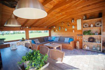 houten binnenwand