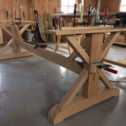 maatwerk meubel binnentafel eikenhout