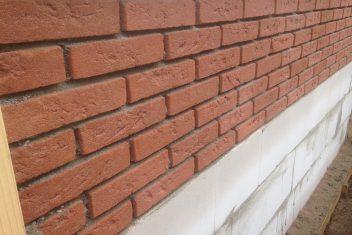 gemetselde muur