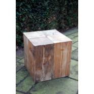 houten poef