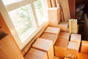 er wordt gebruik gemaakt van diverse houtsoorten